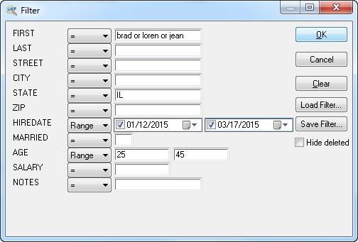 Development Software, Database Management Software Screenshot