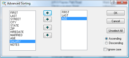 Database Management Software, DBF Viewer 2000 Screenshot
