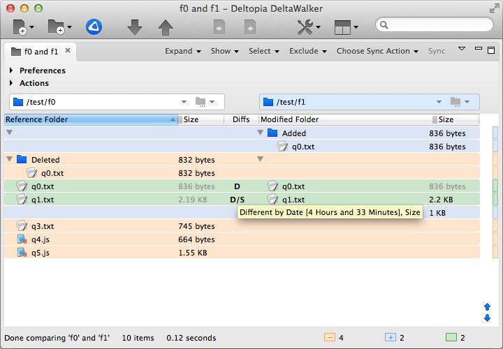 DeltaWalker 2, File Management Software Screenshot