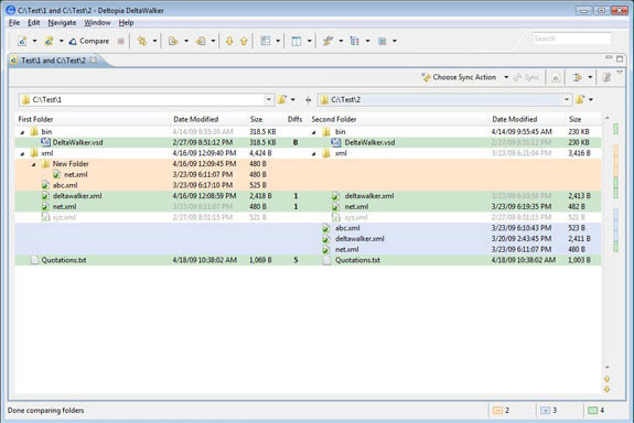 DeltaWalker, File Management Software Screenshot