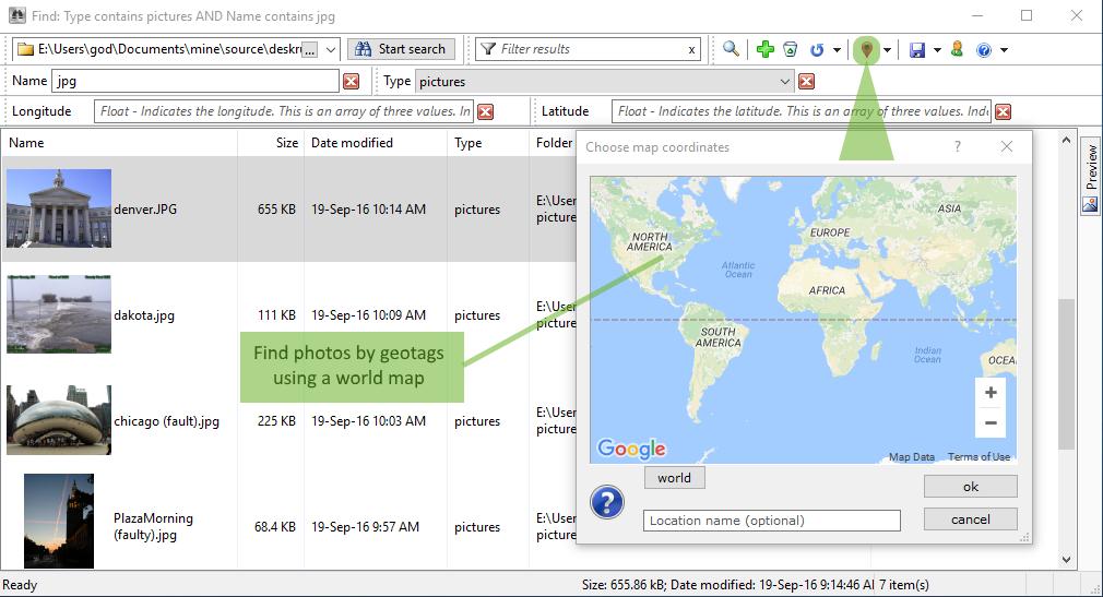 DeskRule, Files and Folders Software Screenshot