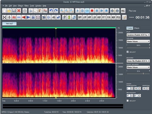 Dexster, Recording Studio Software Screenshot
