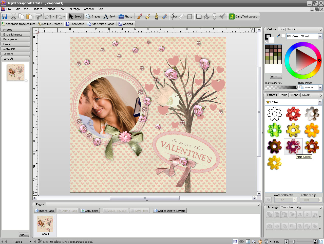 Graphic Design Software, Digital Scrapbook Artist 2 Screenshot