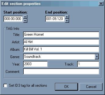 Direct WAV MP3 Splitter, MP3 Recording Software Screenshot