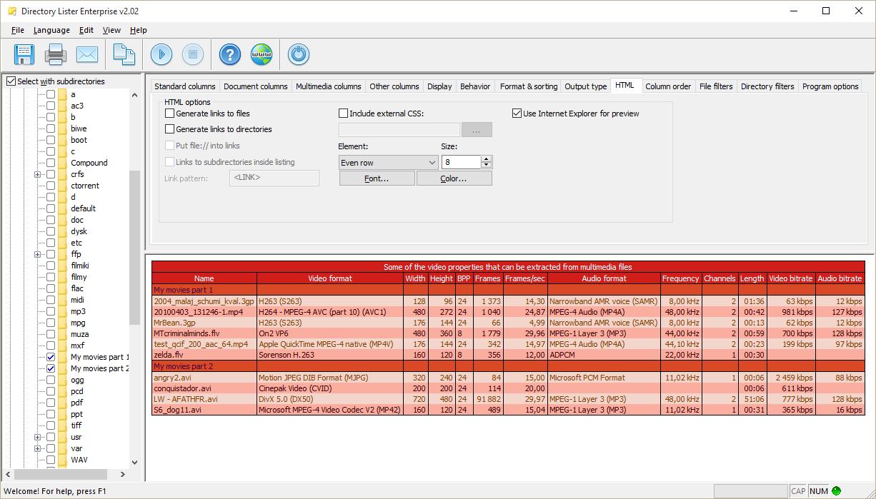 Directory Lister Pro Screenshot 9
