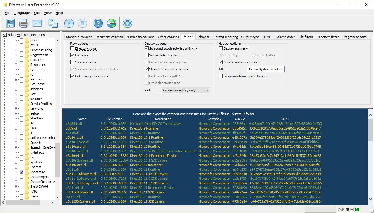 Directory Lister Pro, Software Utilities Screenshot