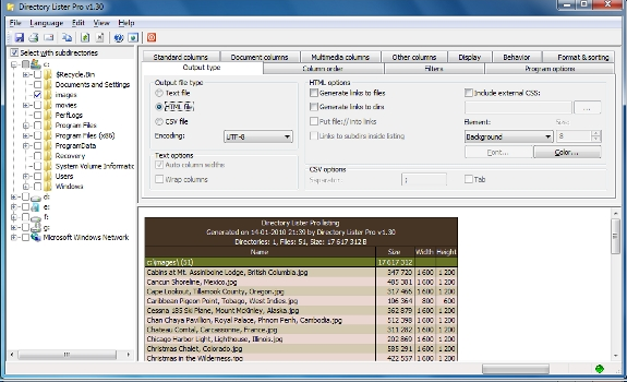 Directory Lister Pro and Backup Dwarf Professional Screenshot 8
