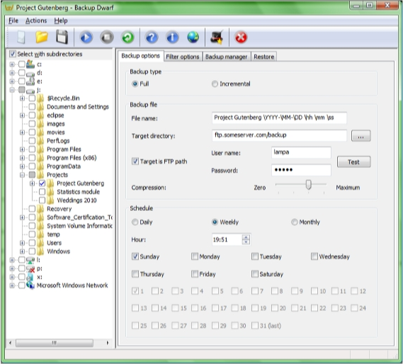 Directory Lister Pro and Backup Dwarf Professional Screenshot 12