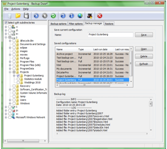 Directory Lister Pro and Backup Dwarf Professional Screenshot 17