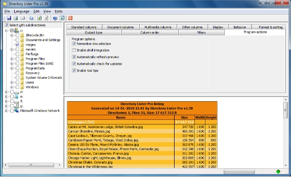 Directory Lister Pro and Backup Dwarf Professional Screenshot 9