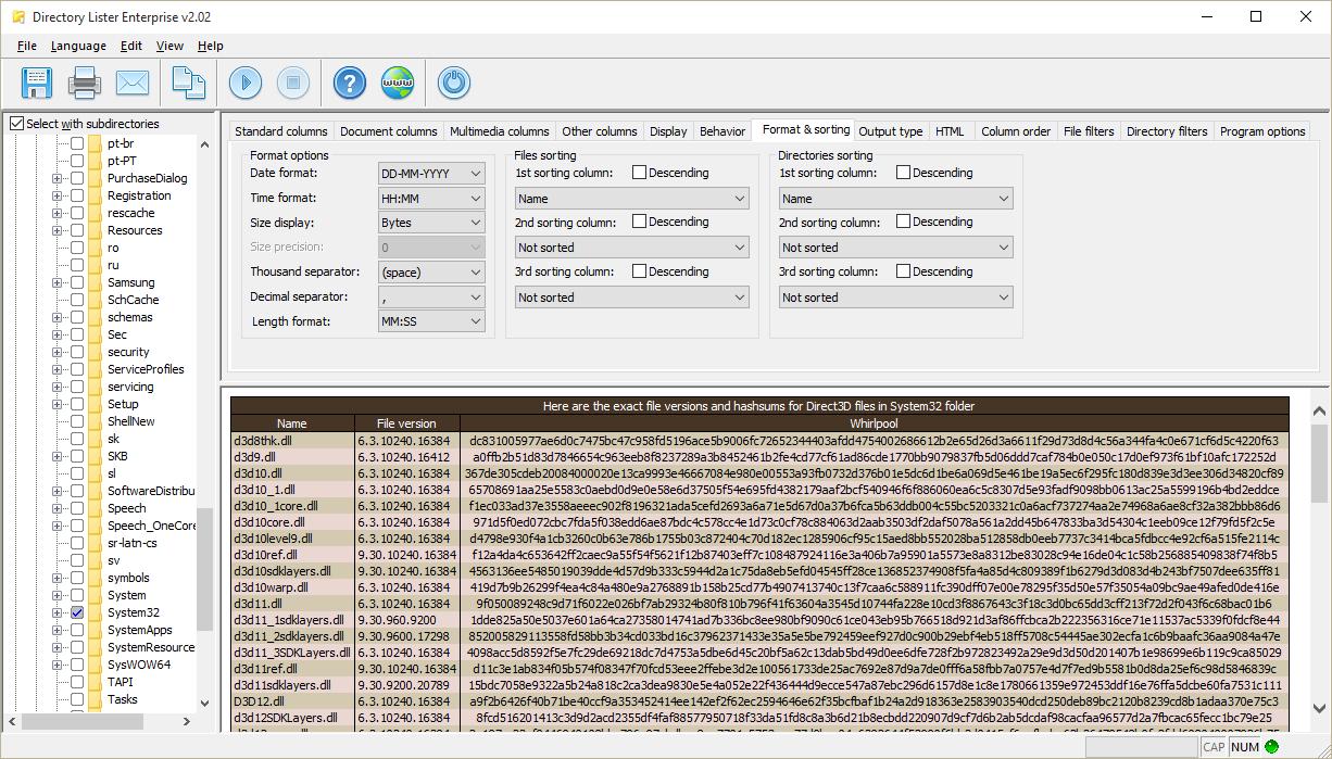 Directory Lister Pro Screenshot 8