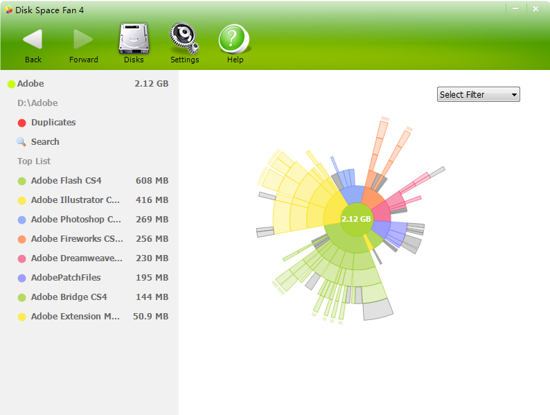Disk Space Fan 4 Screenshot