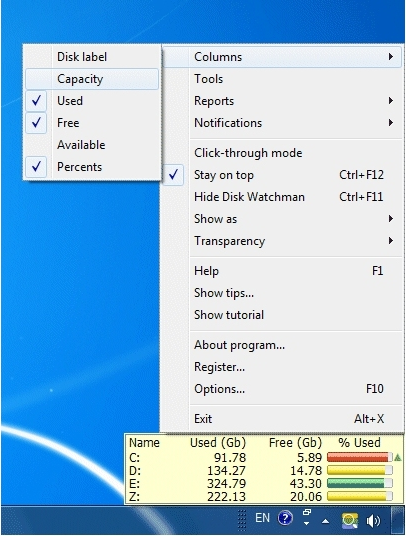 Disk Watchman Screenshot