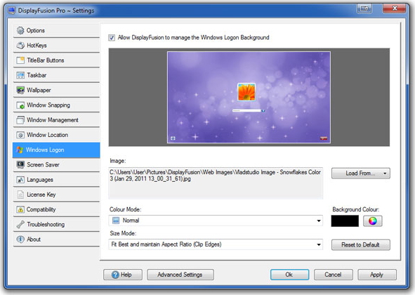 DisplayFusion, Desktop Space Software Screenshot