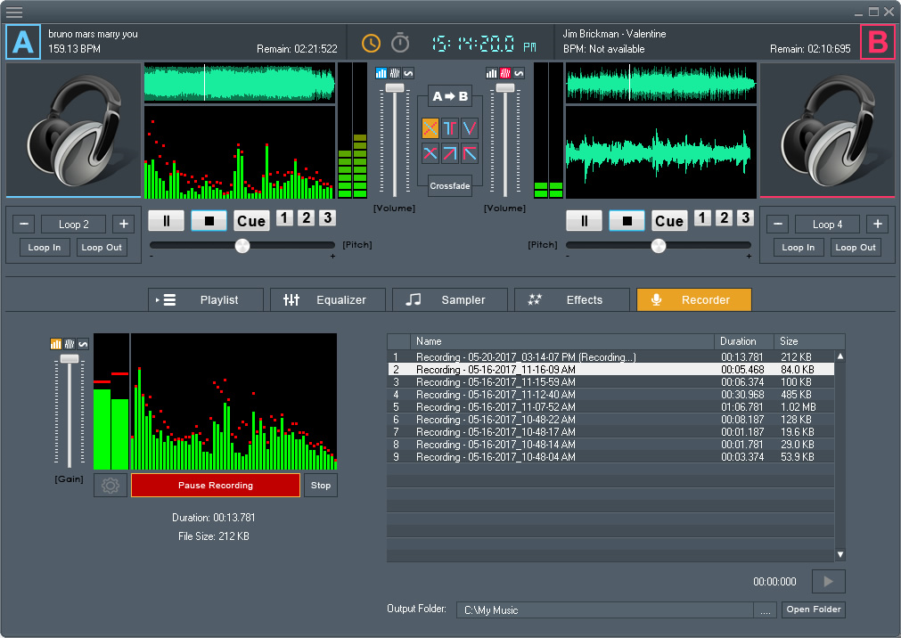 DJ Mix Studio, Audio Software Screenshot