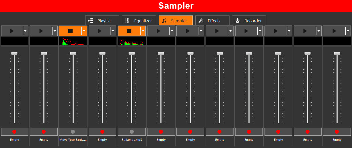 DJ Music Mixer, Music Software Screenshot