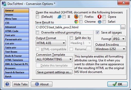 Doc To HTML Converter Screenshot