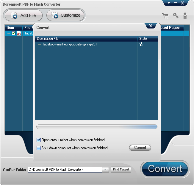 Doremisoft PDF to Flash Converter for Mac and PC Screenshot 9