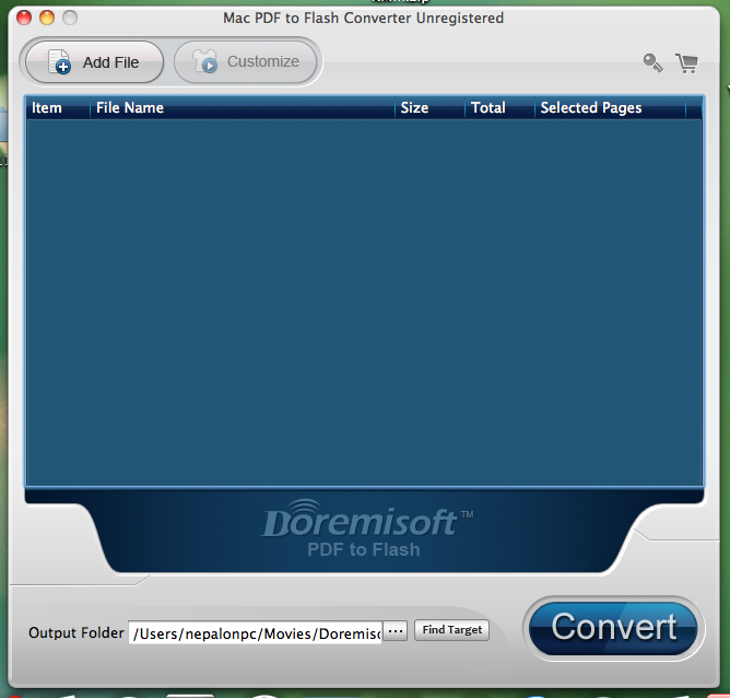Doremisoft PDF to Flash Converter for Mac and PC, PDF Conversion Software Screenshot