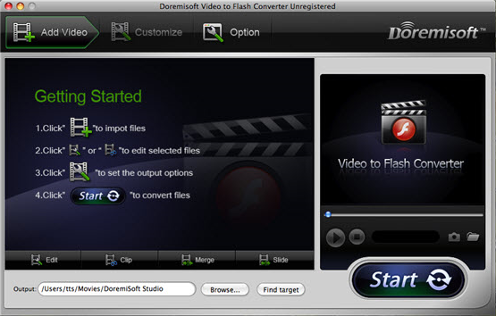 Doremisoft Video to Flash Converter Screenshot
