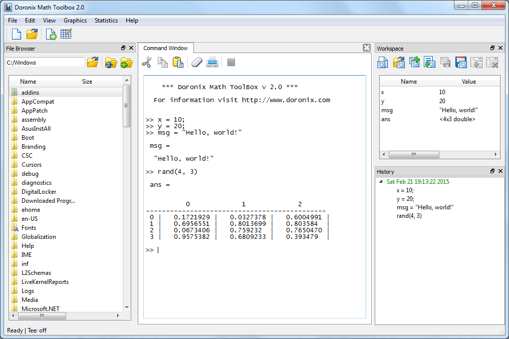 Doronix Math Toolbox 2.0 Screenshot