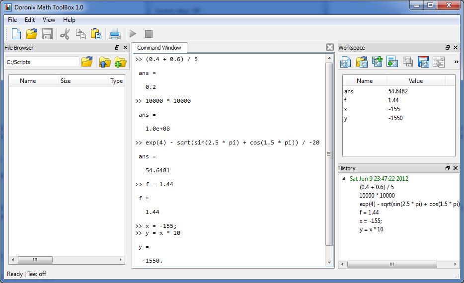 Doronix Math Toolbox Screenshot