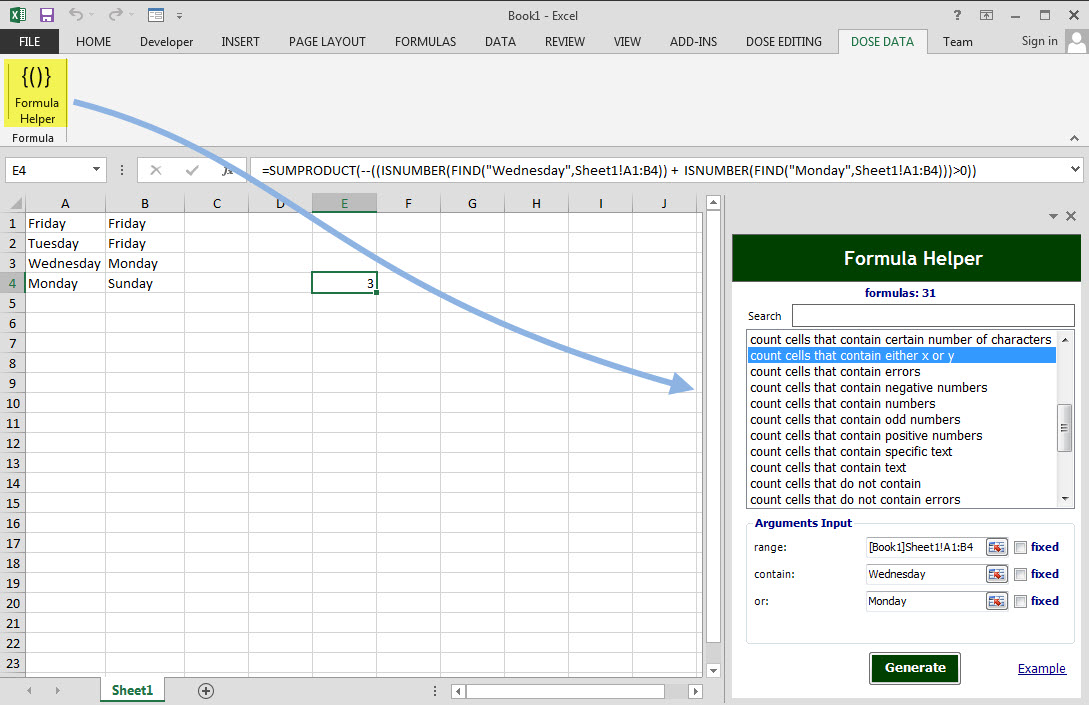 Dose for Excel Add-In Screenshot 15