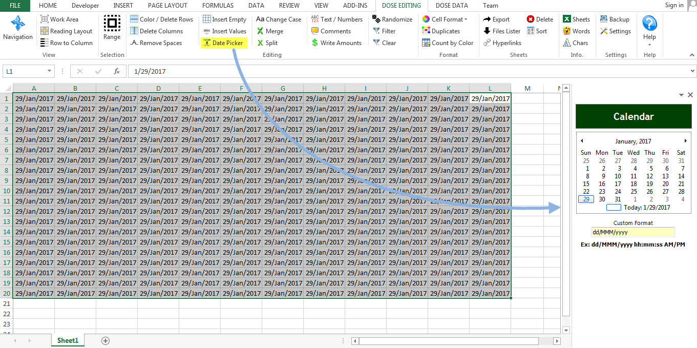 Dose for Excel Add-In Screenshot 8