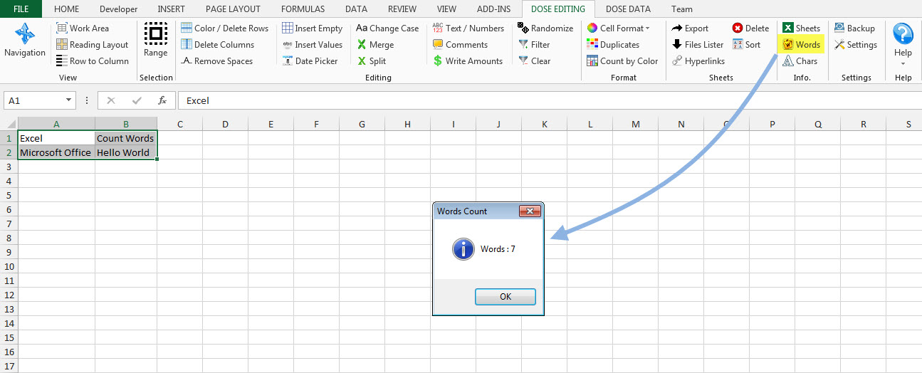 Dose for Excel Add-In, Business & Finance Software, Excel Add-ins Software Screenshot