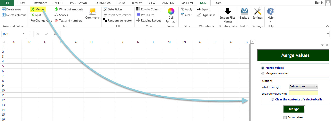 Dose for Excel Add-In Screenshot 19