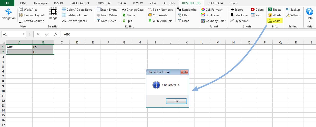 Business & Finance Software, Dose for Excel Add-In Screenshot