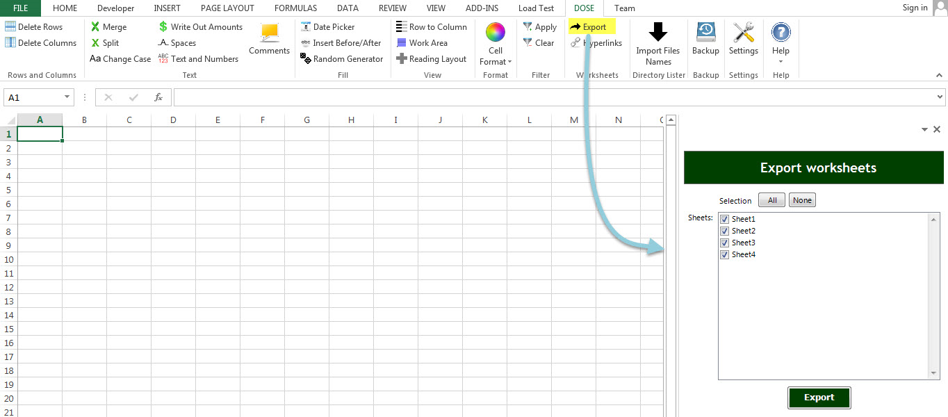 Dose for Excel Add-In Screenshot 14