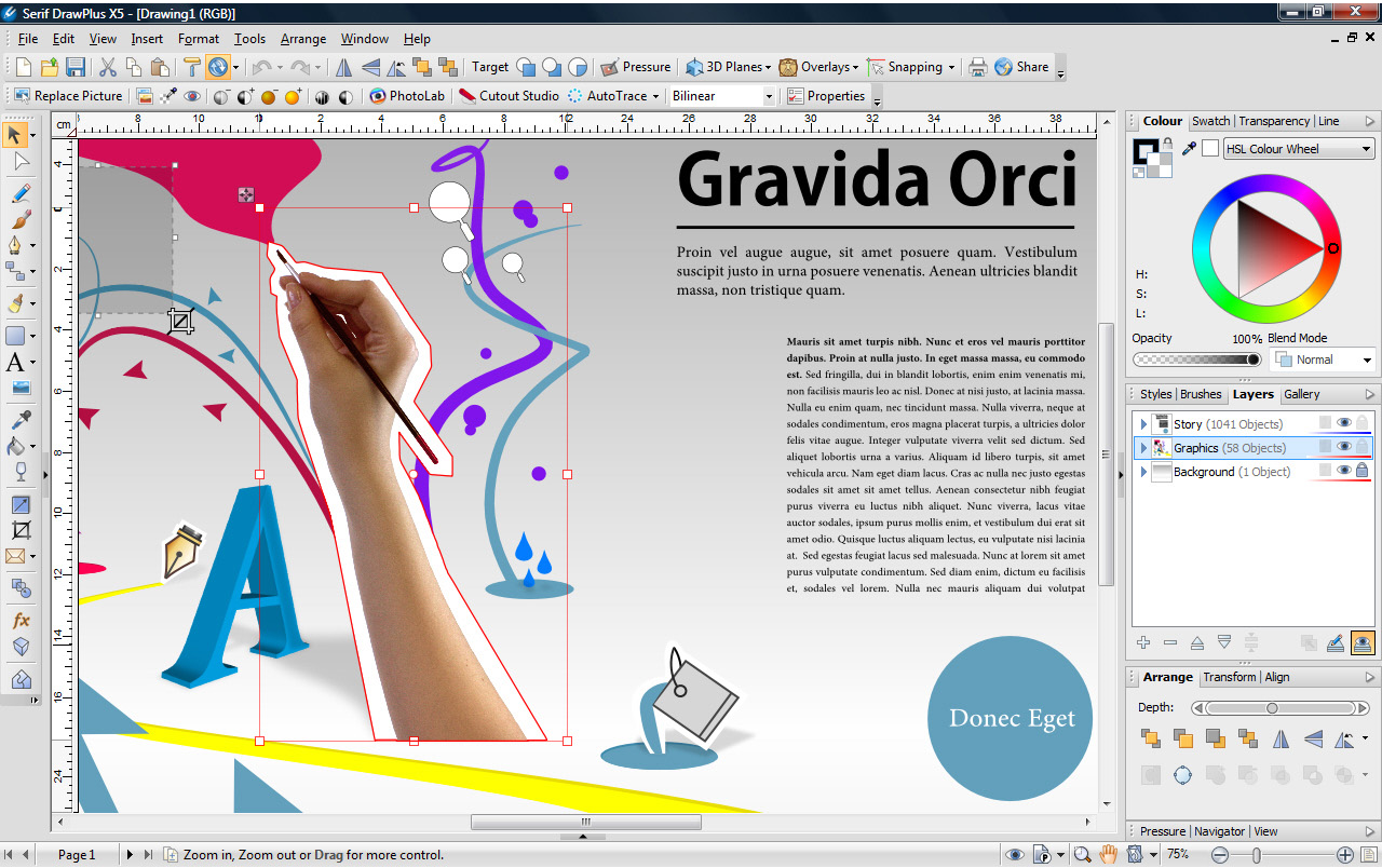 Draw Plus X5 Graphic Design Software Download For Pc