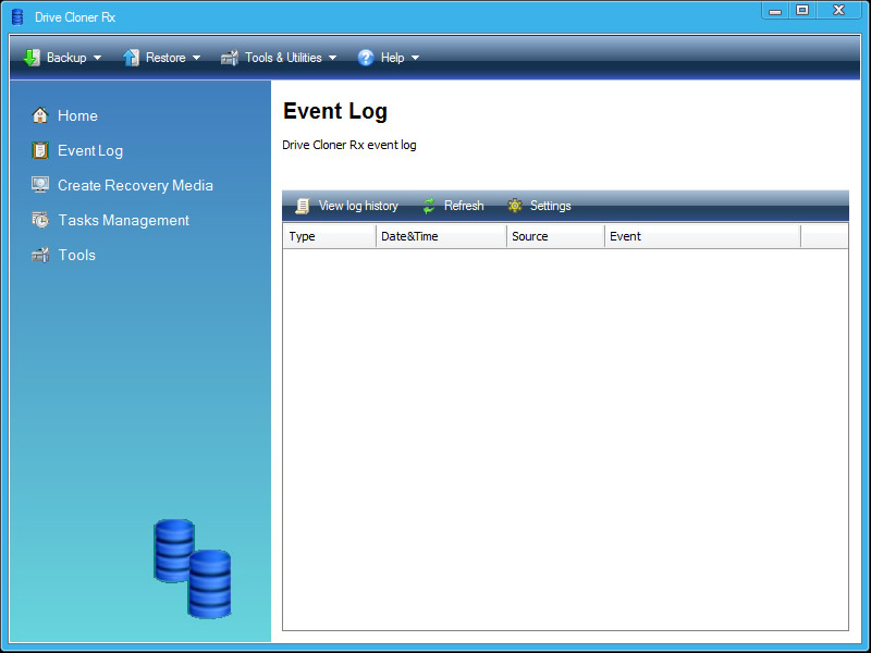 Drive Cloner Rx, Security Software Screenshot