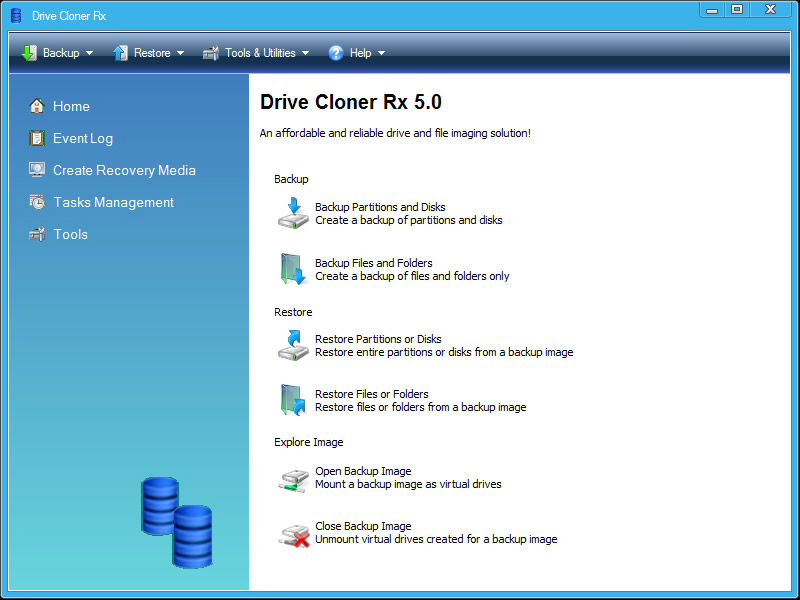 Security Software, Drive Cloner Rx Screenshot