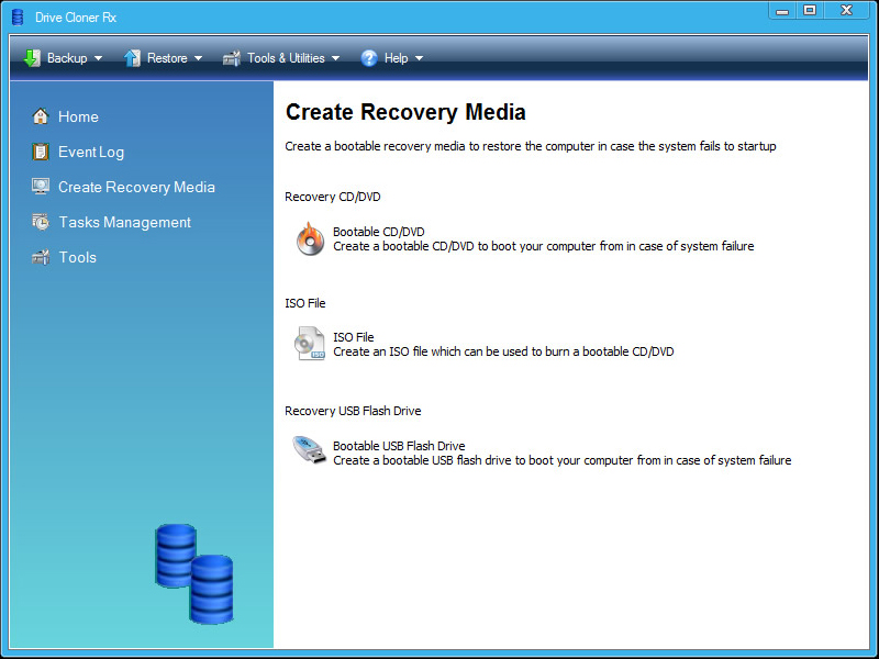 Drive Cloner Rx, Security Software, Backup and Restore Software Screenshot
