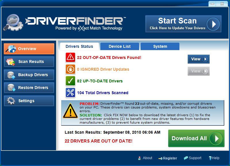 DriverFinder Screenshot