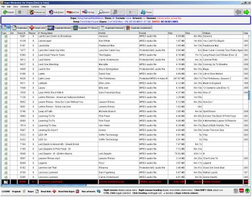 Dupe Eliminator for iTunes Screenshot