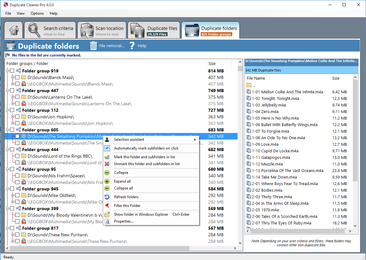 Software Utilities, Duplicate Cleaner Pro Screenshot
