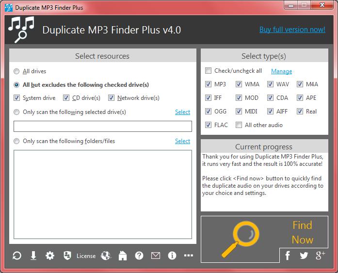 Duplicate MP3 Finder Plus Screenshot