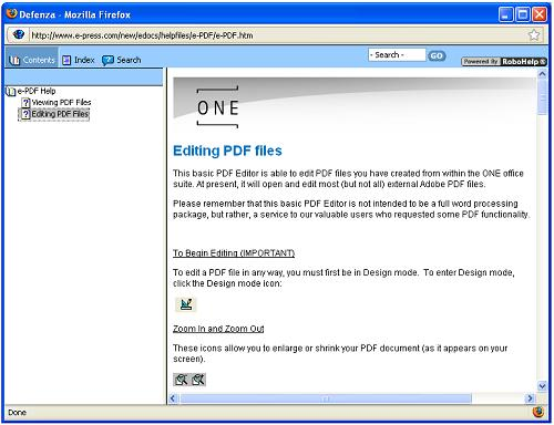 e-PDF, PDF Conversion Software Screenshot