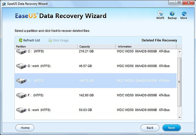 EASEUS Data Recovery Wizard, Recovery Software Screenshot
