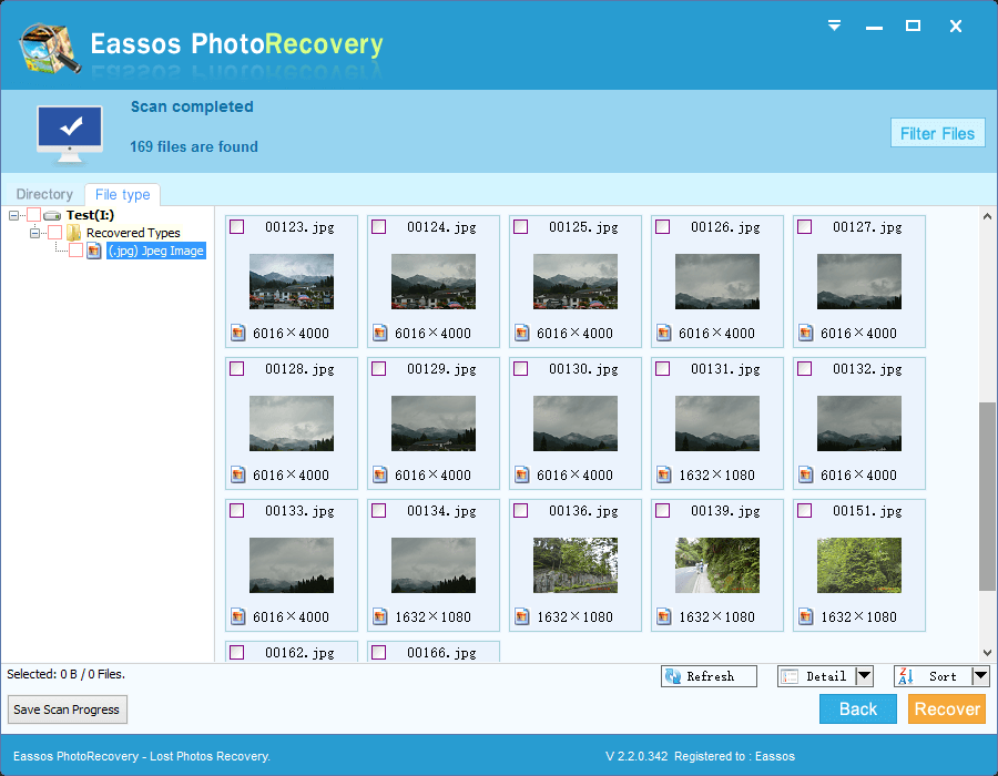 Eassos Photo Recovery Screenshot