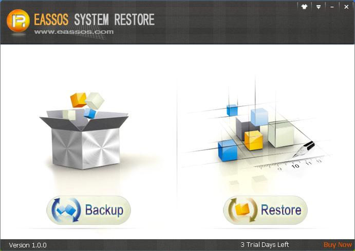 Eassos System Restore Screenshot
