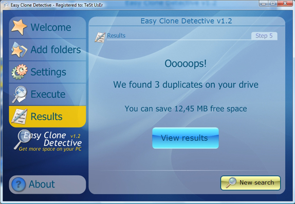 Duplicate Files Software, Easy Clone detective Screenshot