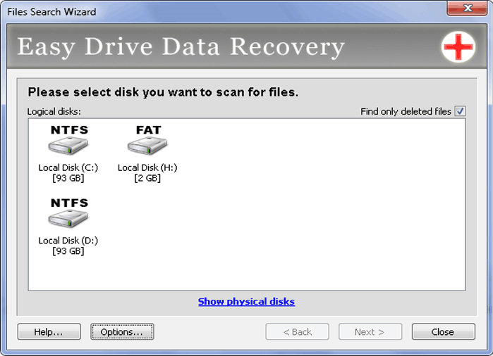 Easy Drive Data Recovery Screenshot