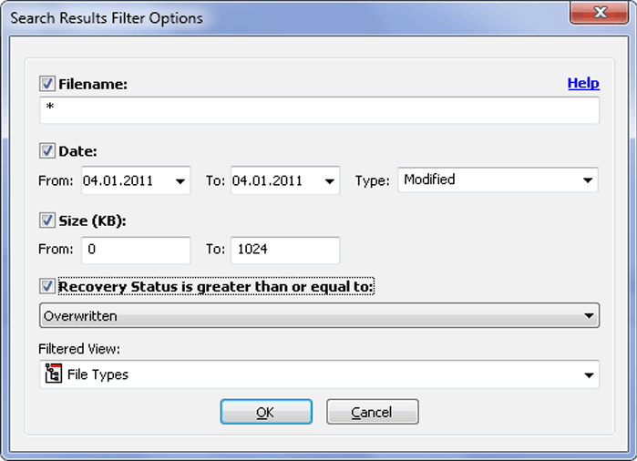 Easy Drive Data Recovery, Recovery Software Screenshot