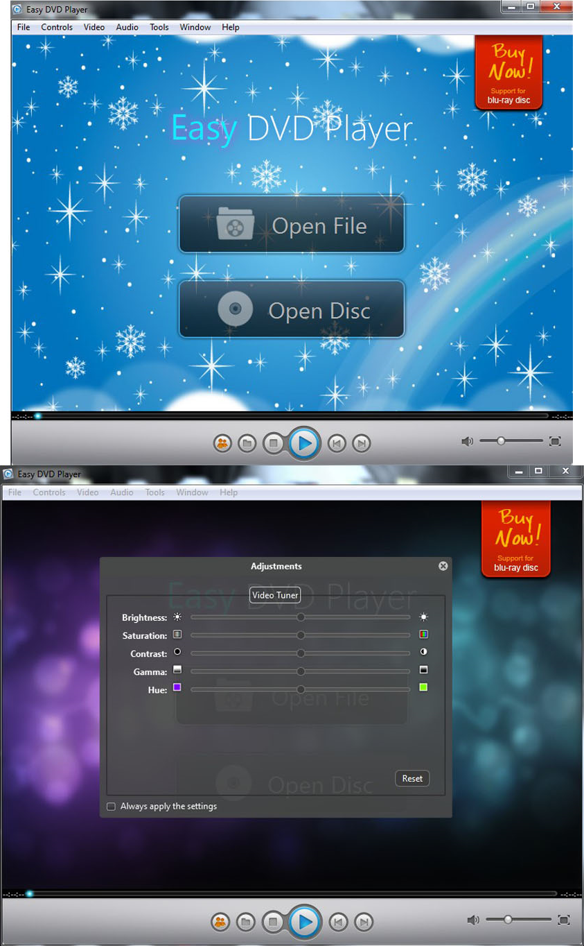 Video Software, Easy DVD Player Screenshot