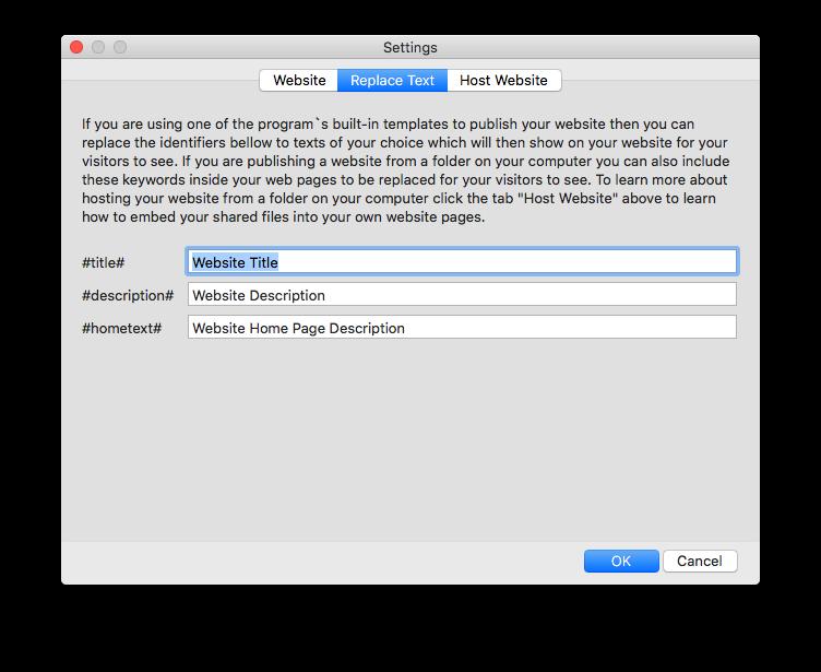 Internet Software, Easy File Sharing Screenshot