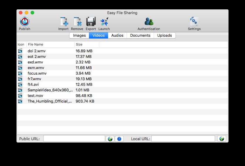 File Sharing Software Screenshot